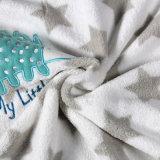 紫色の綿の羊毛ファブリック子供の柔らかい赤ん坊毛布