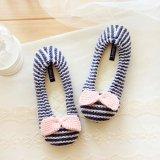 Мягкий теплый трикотаж балет обувь для использования внутри помещений тапочки обувь обувь