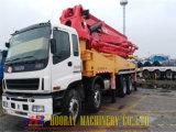사용한 Isuzu 48m는 구체적인 붐 펌프, 37m를 트럭 거치했다. 42m 의 48m 구체 펌프 트럭