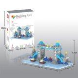 14889402マイクロブロックキットの建物シリーズブロックは創造的な教育DIYのおもちゃ500PCS -タワー橋--をセットした