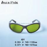 Anteojos de seguridad del En 207 Ady 740-1100nm del Ce/anteojos de seguridad de los anteojos de seguridad del laboratorio de la seguridad Glassess//laser para el marco del deporte