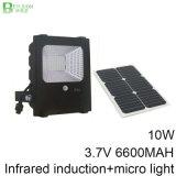 PIR 운동 측정기를 가진 10W 옥외 태양 LED 투광램프