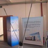 La promotion annonçant l'aluminium augmentent les stands extérieurs de drapeau de bande x