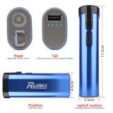 O USB da autodefesa recarregável Stun as funções da lanterna elétrica do diodo emissor de luz do injetor azuis