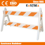 Witte/Oranje Barricade van de Verkeersveiligheid van pvc Plastic