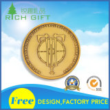 Logo de coutume de pièce de monnaie d'enjeu d'or/argent/émail en métal de fabrication