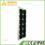 Nuevo 30W 5 años de garantía toda en una lámpara de pared ligera al aire libre solar de la potencia de Sun