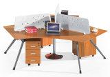 Классицистическая рабочая станция стола офиса конструкции деревянная для персоны 4