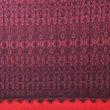 Bordado Colorido Malha Química Tecido De Renda Poliéster Tecido Africano Impresso Para Vestido Primavera
