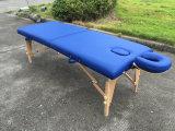Tabella di massaggio del legname con il poggiacapo registrabile