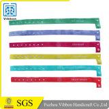 Alta seguro barato de encargo de la tela del paño tejido pulseras