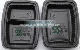 Recipiente de alimento plástico descartável de 2 compartimentos (SZ-8628)