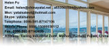 Ventana de madera del marco del color del exterior abierto impermeable del PVC