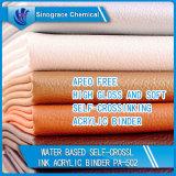 A base de agua-Crosslink Auto Carpeta de acrílico de cuero de alta calidad