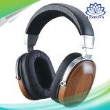 HiFi B8 HiFi 나무로 되는 금속 검정 이어폰 마호가니 헤드폰 헤드폰