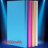 Carcasa de aleación de Banco de potencia ultrafino con 10000mAh Dual USB