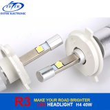 LED 차 램프 크리 사람 LED 헤드라이트 H4 6000k 크세논 백색 4800lm H4 H/L R3 차 LED 헤드라이트 40W 크리 말