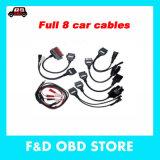 L'OBD OBD2 Ensemble complet de 8 câbles de voiture TCS CDP Câble Voiture Voiture Plus de 8 câbles d'interface Diagnostic-Tool pour CDP Autocom Delphi DS150e