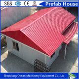 Casa prefabricada móvil de la estructura de acero de la casa del material de construcción y del panel de acero ligeros de Wandwich