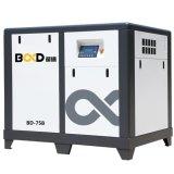compresseur d'air rotatoire noyé par pétrole de vis d'inverseur de 75HP 55kw VSD