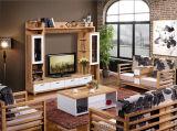 Кровать комплекта спальни мебели высокого качества классическая деревянная (HX-LS001)