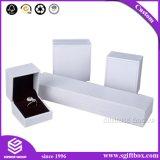 Contenitori di monili impaccanti stampati il nero del regalo di marchio su ordinazione di carta