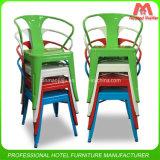 Chaise moderne en bois empilable en métal