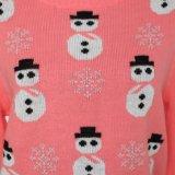 ジャカードデザインおよびアクリルの品質柔らかいHandfeelのLadeisのセーターのクリスマスのギフト