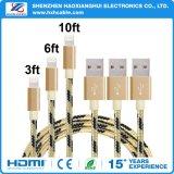 Cable del relámpago del USB para el iPhone 7 del iPhone 6