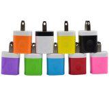 Заряжатель USB мобильного телефона переходники перемещения EU 5V 1A США цветастый