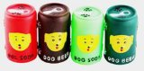 Prodotti dell'animale domestico, giocattolo della bottiglia da birra del vinile del cane, giocattolo dell'animale domestico