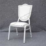 Cadeira de alumínio de empilhamento estofada popular do casamento do couro branco de Marrocos para o evento e o banquete (YC-ZL162)
