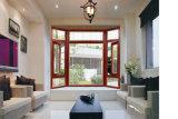 Woodwin modificaron el color doble vidrio templado Ventana del marco de aluminio