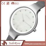 Qualitäts-Edelstahl-Quarz angeschaltene Uhr für Frauen