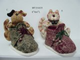 Merry Christmas Cat and Dog Pencil Holder-2asst