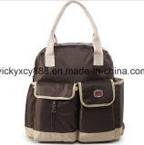 Moda Organizador do bebé de ressalto duplo fralda Mamãe Messenger Bag (CY3633)