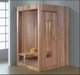 Sala de sauna de madeira maciça com tamanho personalizado (AT-8607)