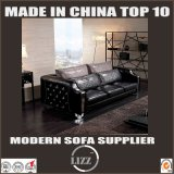 Sofá luxuoso 1+2+3 do sofá do couro da mobília de Italy