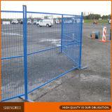 El emplazamiento de la obra temporal portable fácil instala el cercado