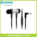 auricular estéreo del en-Oído de la pista del auricular del shell del aluminio de 3.5m m con el micrófono