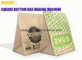 Bolsa de papel del caramelo que hace el bolso de compras del papel de máquina que hace la máquina