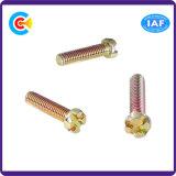 GB/DIN/JIS/ANSI Kohlenstoffstahl-/aus rostfreiem Stahl 4.8/8.8/10.9 Galvanizeddouble V Hauptschraube für Gebäude-Maschinerie/Industrie