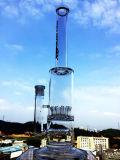 Tubulação de água de vidro de fumo de Faberge do coletor de vidro novo da cinza do crânio