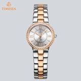 Señora de acero inoxidable reloj de la joyería impermeable con cristal De Zafiro 71193
