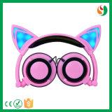 A tecnologia de Lks da fábrica de China produziu o auscultadores fresco estereofónico do projeto à moda novo do gato para a venda