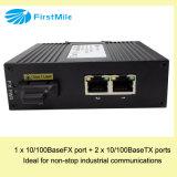 Switch Ethernet Industrial não gerenciado com 1fe 2TX