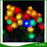 가벼운 Senor가 20의 LED 로즈 꽃 태양 끈에 의하여 점화한다 Christmas Lamps Waterproof