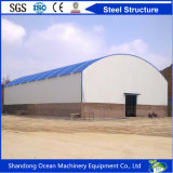 Estructura de acero constructiva del diseño hermoso de la construcción del arreglo para requisitos particulares para el salón de muestras del almacén de la fábrica con el presupuesto inferior