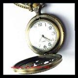Relógio de quartzo de bolso de alta qualidade com corrente de liga e caso de liga fs518