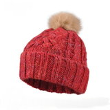 Жаккард Beanie Red Hat Вязки Вязки POM POM Red Hat Red Hat Beanie Red Hat